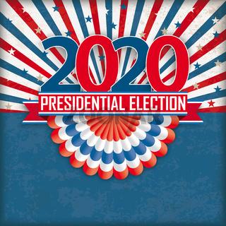 Presidential Election 2020 Bunting Retro Sun