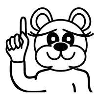 Lustiger Bär - zeit nach oben