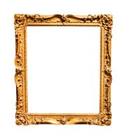 vertical old baroque wooden painting frame