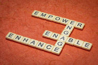 empower, enhance, enable and engage crossword