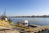 Ferry jetty along the East Bank of the Nile River