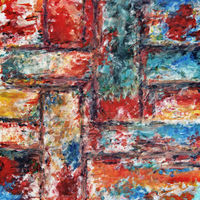 Abstract painting with the various cross lines