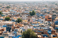 Panoramic view of blue city Jodhpur in India