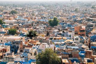 Panoramic view of blue city Jodhpur in India