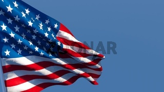 3d rendering of the national flag of the United States of America