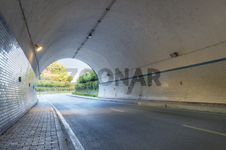 tunnel closeup, road background