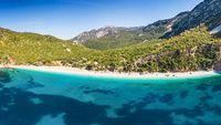 The beach Thapsa in Evia, Greece