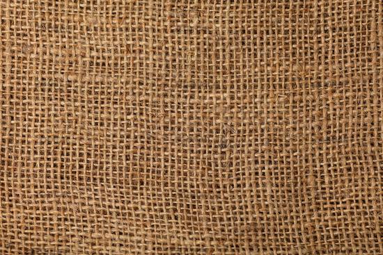 Brauner Jute Textur Hintergrund