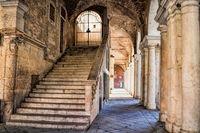 palazzo della ragione in vicenza, italien