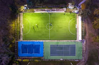soccer and tennis playground