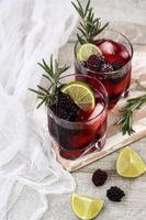 lemonade with blackberry