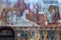 reitet auf einem Esel, Gottesmutterkirche, Klosterkomplex Gelati, Kutaissi , Georgien