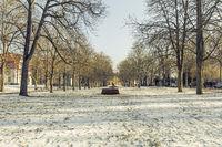 Blick im historischen Park