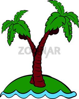 Palm tree icon cartoon
