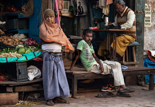 Street markets of Calcutta.There is a lot of street market in the old town .Some of them are retail.There is some wholesale vegetable market as well.