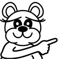 Lustiger Bär - zeigend