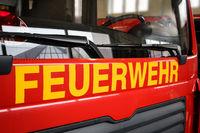 Front eines Feuerwehrauto