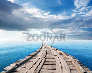 Bridge in the ocean