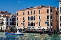 Venice, Italy - 03/15/2019 - Palazzo Pisani Gritti on the Grand Canal