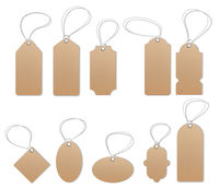 Price tags, empty labels, sale tags and labels