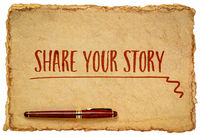 share your story inspirational handwriting