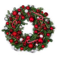 Christmas fir wreath isolated