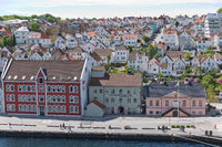 Aerial view of Stavanger in Norway. One of the most beautiful cities in Scandinavia and the oil capital of the country