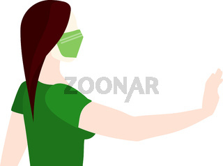 Woman With Mask Vector