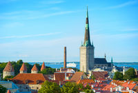 Tallinn Old Town skyline Estonia