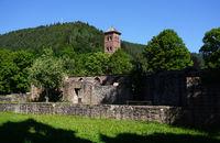 Kloster Hirsau, Mauern der Ruine und Westturm