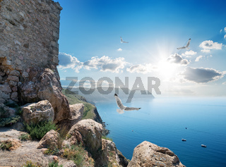 Fortress near sea