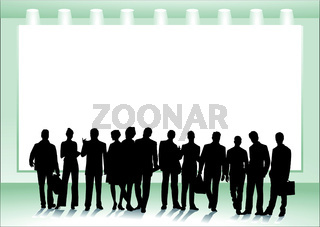 Personengruppe vor Leinwand.eps