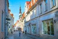 Peopel street Old Town Tallinn