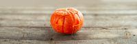 Halloween pumpkin on wood