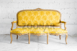 Classic Yellow Sofa