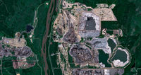 Canadian oil sand production facility from space