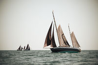 Ketch under sails