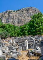 The Bouleuterion in Ancient Priene ruins, Turkey