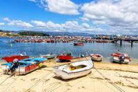 Marina und Boote in Illa de Arousa, Spanien
