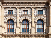 Facade of Natural History Museum in Vienna