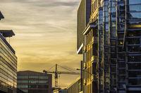 Goldene Büro Fassade in Hamburg