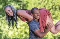 A Beautiful Interracatial Couple Enjoying Each Others Company