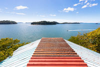 Panama Manglares islands panoramic view