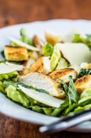 Chicken Caesar Salad with Cheese and Croutons