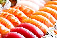 Assorted sushi and nigiri set
