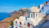 Thera town in Santorini island