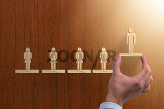 Career ladder concept with businessman