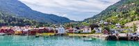 Townscape Solvorn in Western Norway