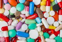 Heap of pills - medical background