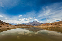Dhankar lake in Himalayas
